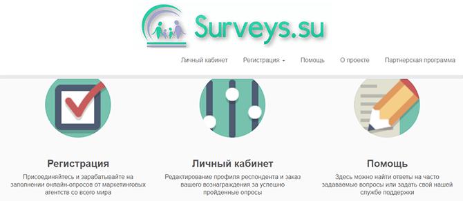 Опросный сайт Surveys.su